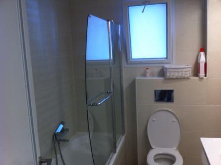 לאחר השיפוץ של חדר האמבטיה