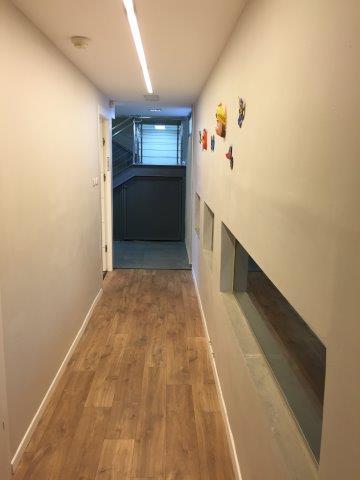 מסדרונות לאחר שיפוץ