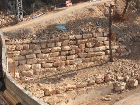 קיר תמך שיפוץ בירושלים בית חולים הרצוג