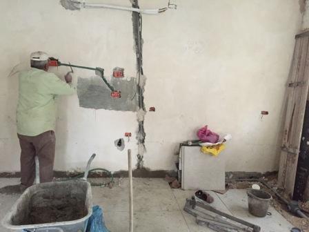שיפוץ הסלון בדירה בגורדון תל אביב